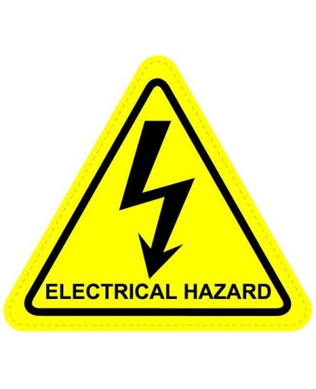 electrical hazard warning sign sticker